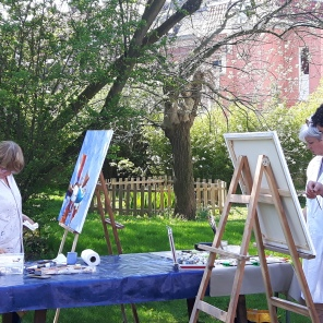 Cours de peinture en extérieur