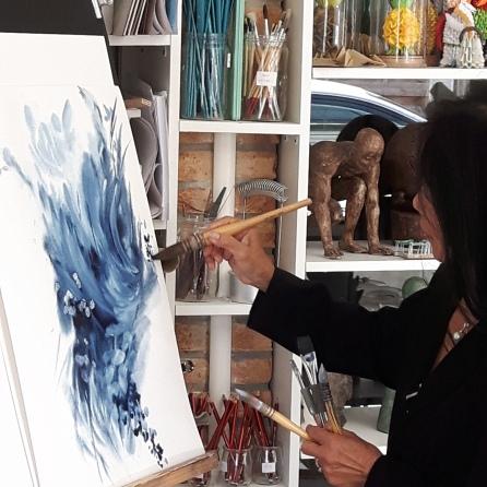 démonstration aquarelle par Hong Haï Le Hamy
