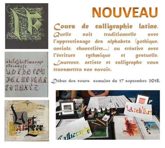 affiche cours calligraphie